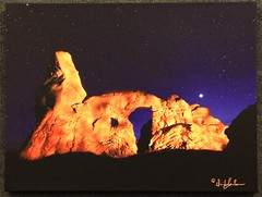 Turret Arch Light Painted on Canvas (dsphotoscapes@aol.com) Tags: utah arch arches moab archesnationalpark turretarch utahlandscapes utahnationalparks discovermoabcom cnhamoab