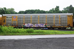 Myth Large (BombTrains) Tags: road railroad art up train bench graffiti paint pacific tag graf union large rail spray lions amf bonus ba graff freight myth enron ecto autorack fr8 vts benching ttgx 980687