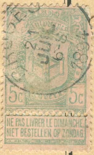Belgien_1894_5c_©_c