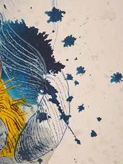 DSC09522 (scott_waterman) Tags: blue detail ink watercolor painting paper lotus gouache bluehue lotusflower scottwaterman