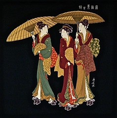 Variations on 4 Colours (the mindful fox) Tags: kimono japaneseart  fabricart