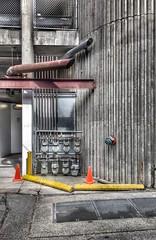 Gas-In, Gas-Out (Dale Brueggemann) Tags: urban concrete bellingham utilities alleys