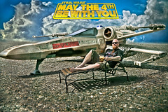may the 4th (Drummy ) Tags: cinema love self movie toy starwars fighter ship seat small creative relaxing manipulation celebration scifi cheers imagination xwing sized toyphotography