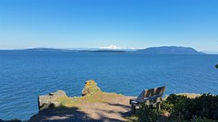 View (Whistler Whatever) Tags: ocean park blue sky mountain snow water bench point chair view pacific seat peak sunny wa orcasisland straitjuandefuca