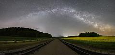 Milchstrae ber den Bahnhof (m.cjo Fotografie - Martin Rakelmann) Tags: stars bahnhof roland sterne milkyway rasenderroland rasender mcjo milchstrase ioptron