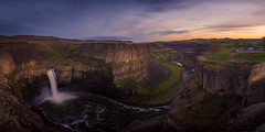 Palouse Falls on a Spring Night, Washington (Dr. P.Yang) Tags: statepark park sunset usa nature water night river landscape us waterfall washington twilight unitedstates state dusk united falls valley gorge states washingtonstate eastern palouse easternwashington palouseriver palousefalls palousefallsstatepark
