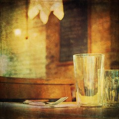 Table at a London restaurant (Explore 12/6/2016) (Caroline Oades) Tags: london table restaurant glasses nikon dslr cutlery enlight d3200 stackables iamnikon