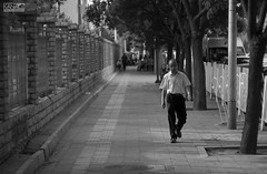 """""""A l o n e """" (KanaLeo) Tags: life old shadow people monochrome dark prime blackwhite still quiet peace time beijing streetphotography samsung while feeling dailylife everyday helios swirlybokeh nx1000 holdthisposition kanaphotography"""