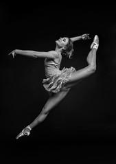 (photo_irina) Tags: portrait blackandwhite bw ballet motion girl beautiful beauty dance jump model ballerina dancer bnw