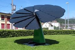Flower Power - Inspired by nature (Kecko) Tags: geotagged schweiz switzerland europe power suisse swiss kecko electricity sg svizzera strom elektrizitt 2016 toggenburg photovoltaics solarcells solarzellen solaranlage solararray photovoltaik wattwil fotovoltaik swissphoto smartflower geo:lon=9089210 geo:lat=47295760