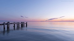 pale spring morning (martinaschneider) Tags: sky lake ontario beach water clouds sunrise pier lakeontario fiftypoint