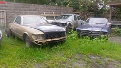 Mercedes-Benz SL and SLC on junkyard (removarkevisser) Tags: class mercedesbenz junkyard slc slclass r107