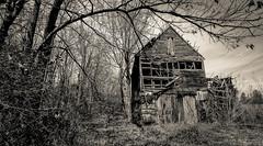 Marshall County Barn_BW (Bob G. Bell) Tags: abandoned barn kentucky fujifilm benton iola marshallcounty bobbell xpro1