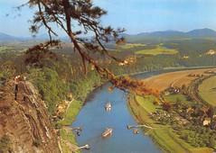 de_bastei (Dirk Bohrig) Tags: elbe bastei postkarte schsischeschweiz rathen kurort postkarten kurortrathen