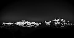 Breathtaking landscape; Mt Himalaya from the top of Sarangkot, Nepal. (SUNA_PHOTOGRAPHY) Tags: nepal blackandwhite bw mountain nature monochrome landscape view himalaya topofthemountain pokahra
