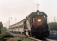 SP Train 133 at Palo Alto, CA on September 9, 1977 (railfan 44) Tags: southernpacific