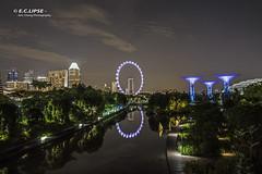 View From Helix (Eric Cheng (E.C.lipse)) Tags: longexposure nightphotography reflection night canon photography landscapes singapore ferriswheel singaporeflyer gardenbythebay