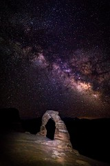 20160626 Delicate Arch Milky Way-1 (Tony Castle) Tags: park night canon way photography long exposure arch arches national 28 delicate milky 2470mm 5diii
