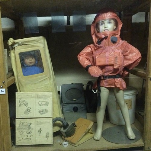 Protecting your kids from fallout is easy! Just remember to pump some air every couple of minutes... #Prague @NuclearBunker
