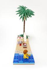 lego mini beach - atana studio (Anthony SJOURN) Tags: ocean mer beach radio studio sand surf lego surfer sable mini palm parasol micro anthony creator plage palmier moc afol atana sjourn