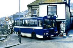 Slide 066-71 (Steve Guess) Tags: bluecream bus mousehole newlyn cornwall penzance england gb uk krl444w harvey bristol lh lhs wadham stringer vanguard