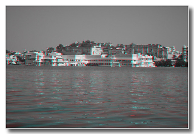 Udaipur IND - Jag Niwas Lake Palace Anaglyph 3d