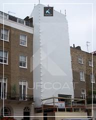 Grosvenor Estate aesthetic screening - Tufcoat Shrink Wrap
