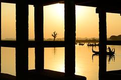 Screens (John_de_Souza) Tags: johndesouza screens myanmarimages myanmar burma amarapura ubein bridge ubeinbridge gold afternoon silhouette boats lake nikon d800e nikkor 70200vrii spotlightonasia travel