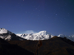 Mustang_1516 Annapurna Himal by star-light (from Chele) (Roger Nix's Travel Collection) Tags: nepal mustang himalaya chele chhele tsele
