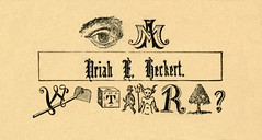 I Am Uriah E. Heckert (Alan Mays) Tags: old trees men vintage paper cards typography eyes funny humorous antique devils humor 19thcentury victorian horns ephemera type rebus names fonts questions puzzles printed borders hoes uriah typefaces nineteenthcentury parodies yews pitchforks callingcards heckert namecards rebuses escortcards visitingcards acquaintancecards devilcards flirtationcards uriaheheckert