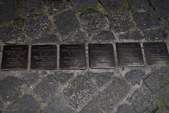 Victims of The Holocaust (Greatest Paka Photography) Tags: plaque germany holocaust community memorial nazi wwii synagogue cobblestone jewish isolation internment baden deportation stolpersteine settlement wertheim kristallnacht commemorate judengasse concentrationcamps nationalsocialistparty stumblingblocks gunterdemnig gurs jewsalley herelived hierwohnte