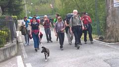 In cammino durante la seconda tappa