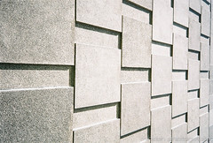 Day 102 - Perspective (Mindori Photographic) Tags: film wall analog concrete shadows sheffield tiles 365 analogue miranda concretewall tapton taptonhall project365 filmisnotdead 365days mirandaax hiddenscale agfavistaplus200 mirandacameras