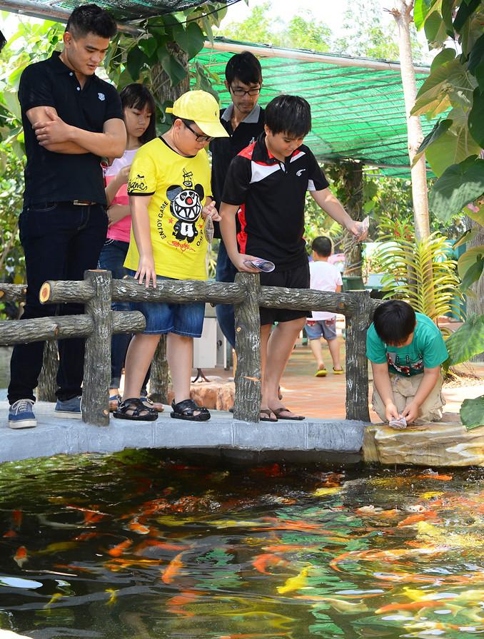 Mô hình cá khủng này thu hút rất nhiều khách đến tham quan