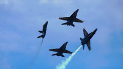 U.S. Navy Blue Angel Diamond Break (aCleary26) Tags: blue sun fun break united navy n diamond angels hornet states boeing usn snf fa18