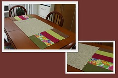 Trilho tiras (ceciliamezzomo) Tags: kitchen table handmade stripe fabric ric patchwork runner mesa rac cozinha tecido tiras trilho sianinha trancelim