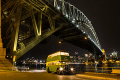 "Sydney Bus Museum 2338 at Milsons Point - Luna Park (Dean ""O305"" Jones) Tags: park bridge bus heritage public museum night vintage point exposure time harbour iii transport sydney australia double luna mo nsw f22 timex regent commission milsons decker aec 2338"