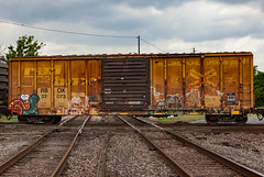 (o texano) Tags: bench graffiti texas houston trains d30 freights erupto a2m benching
