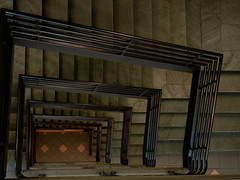 19/52 -- Progress (Pandora-no-hako) Tags: stairs spiral parkinggarage geometry indianapolis indiana step 2016 project52
