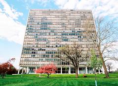 0014025_0014025-R1-E009 (elsuperbob) Tags: mamiya architecture spring kodak michigan detroit modernism miesvanderrohe lafayettepark m645 ektar100