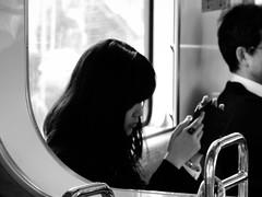 Shashin - DSCN4444 (Mathieu Perron) Tags: life city bridge people bw white black monochrome japan french nikon noir perron fair daily nb international journey   week osaka mp blanc department japon personne semaine ville chuo hankyu gens vie mathieu    sjour   senri quotidienne        p520   zheld