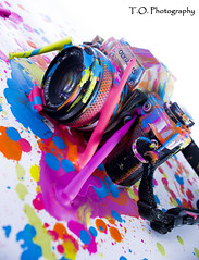 Crayola1 (to.photography) Tags: life camera pink blue red orange white black color art yellow studio lens fun photography still colorful purple vibrant olympus photograph strap cannon wax crayon melted oldcamera geen crayola owens meltedcrayon photographylife tophotography taylorwowens