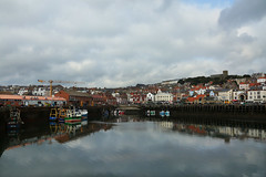 Scarborough Harbour, UK (crafty1tutu (Ann)) Tags: travel england sky holiday water reflections scenery waterfront unitedkingdom harbour outdoor scarborough northyorkshire 2015 anncameron canon5dmkiii crafty1tutu canon28300lserieslens