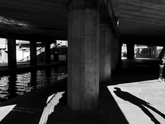 DSCF1832 (Neil Johansson LRPS) Tags: uk light england urban blackandwhite bw white black monochrome architecture dark underpass photography photo noir fuji shadows cheshire northwest streetphotography chester photograph fujifilm cinematic x30 filmnoir urbanphotography fujifilmx30