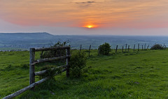 Broken (Through Bri`s Lens) Tags: wood sunset sky fence sussex cow pat barbedwire truleighhill sussexdowns brianspicer canon5dmk3