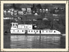 Towboat  Vulcan 2010 (WillynWV) Tags: winter ohio river spring day cloudy bridges clear wv vulcan coal bellaire ohioriver barges towboats belmontcounty stlouisshipbuildingsteelcompany