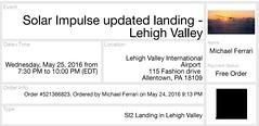 Solar Impulse Landing, Lehigh Valley International Airport (aeroculus) Tags: solar energy aviation abe lehighvalley solarimpulse cleantech