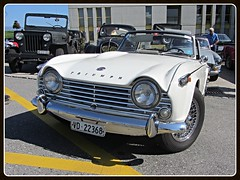 Triumph TR4A IRS (v8dub) Tags: auto old classic car schweiz switzerland automobile suisse 4 automotive voiture triumph oldtimer british irs oldcar collector tr roadster wagen pkw klassik chavornay a worldcars