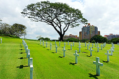Manila American Cemetery and Memorial (Sandra Leidholdt) Tags: cemetery burialground graves graveyard gravestones sandraleidholdt trees grass american memorials marble manilaamericancemeteryandmemorial manila manilacemetery manilaamericancemetery southeastasia asia wwii worldwarii philippines rip cross
