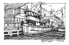 Fishermans Terminal_Darla R (andika.murandi) Tags: seattle sketch sketchbook ballard fishermansterminal urbansketchersseattle